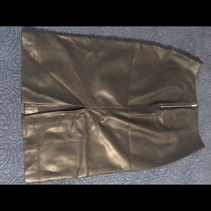 Zara Basics Leather Pencil Skirt
